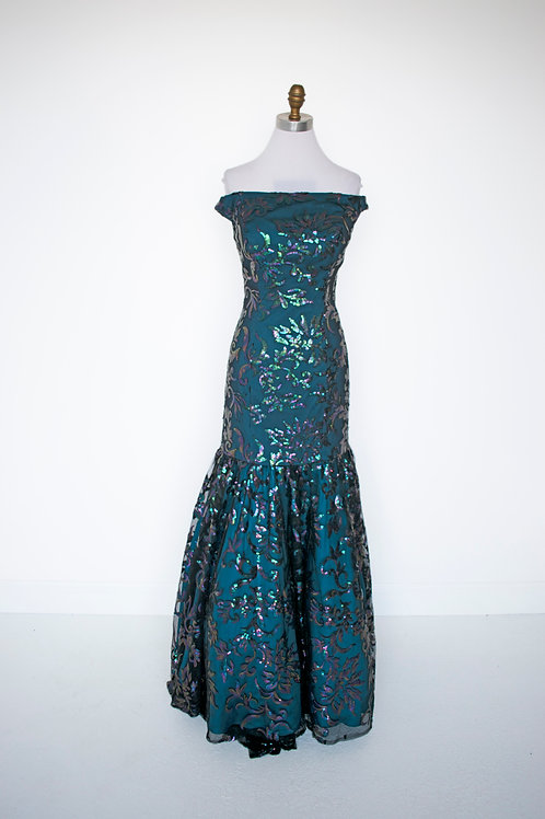 Tiffany Turquoise Sequins - Size 10