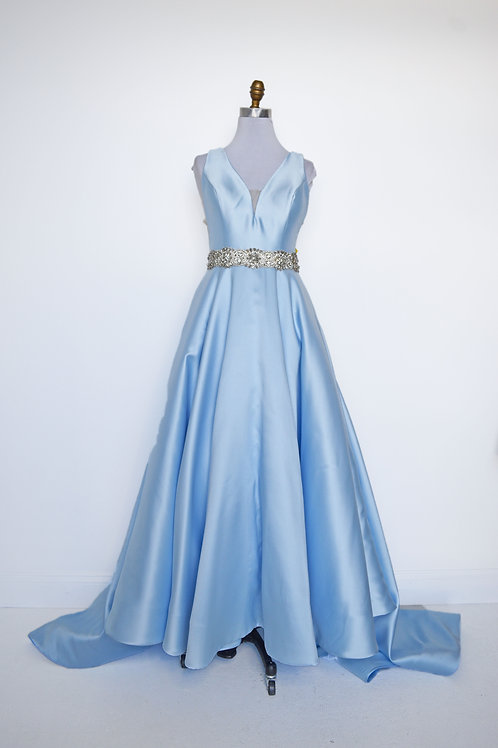 Sherri Hill Light Blue Ballgown - Size 8