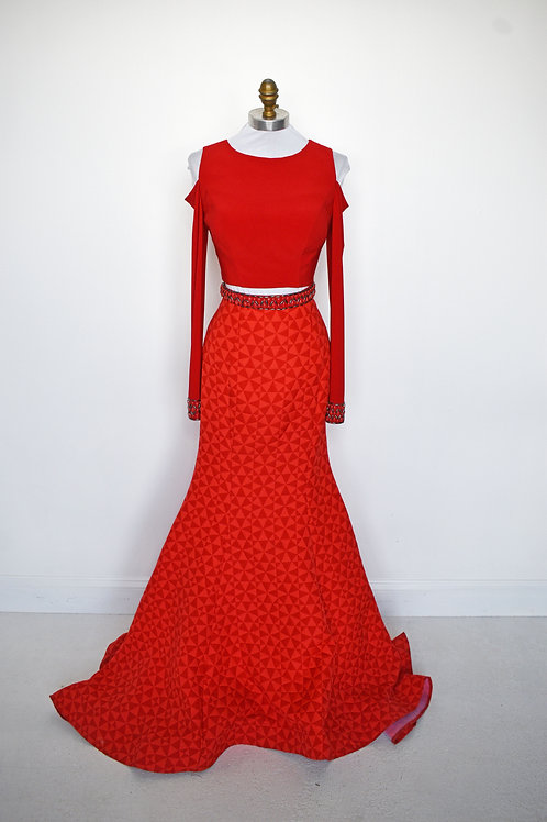 Sherri Hill Red Two Piece - Size 2