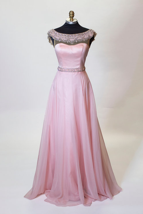 Sherri Hill Light Pink - Size 0