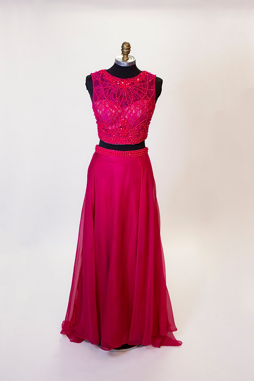 Hot Pink Two Piece - Size 2