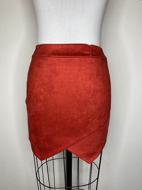NEW Back Down South red suede skirt - size 4