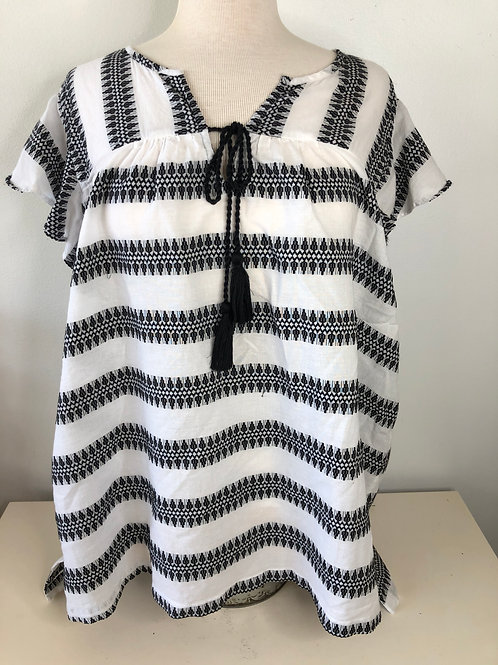 Black and White Top X Large