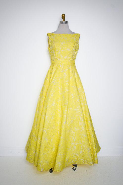 Alyce Yellow Ballgown - Size 8