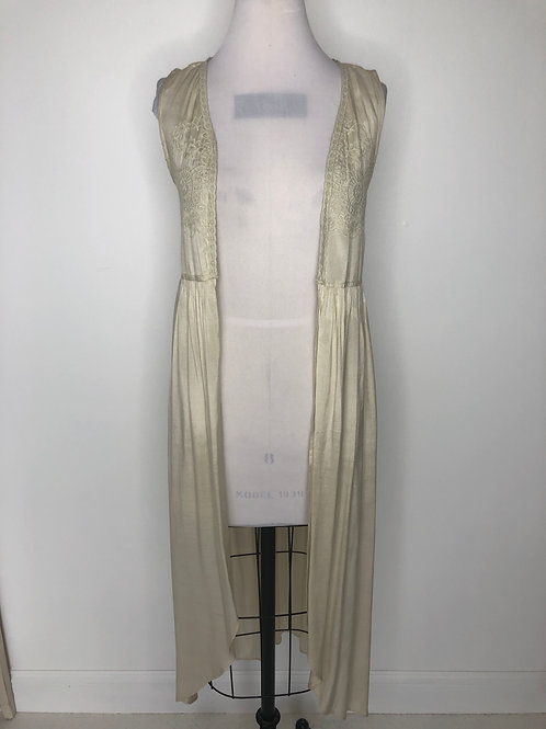Ivory Vest Kimono Size Small