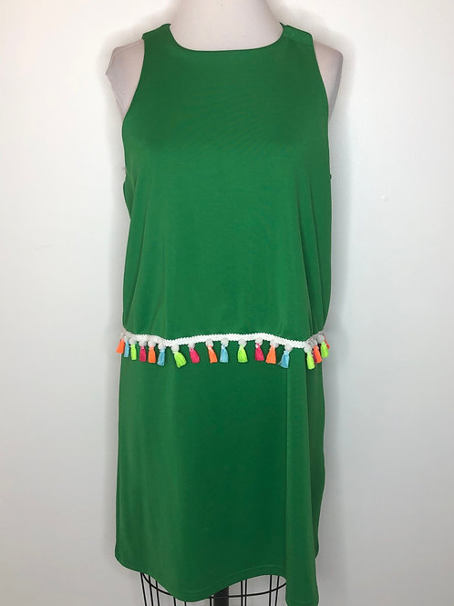 Green Dress With Tassels Size 12