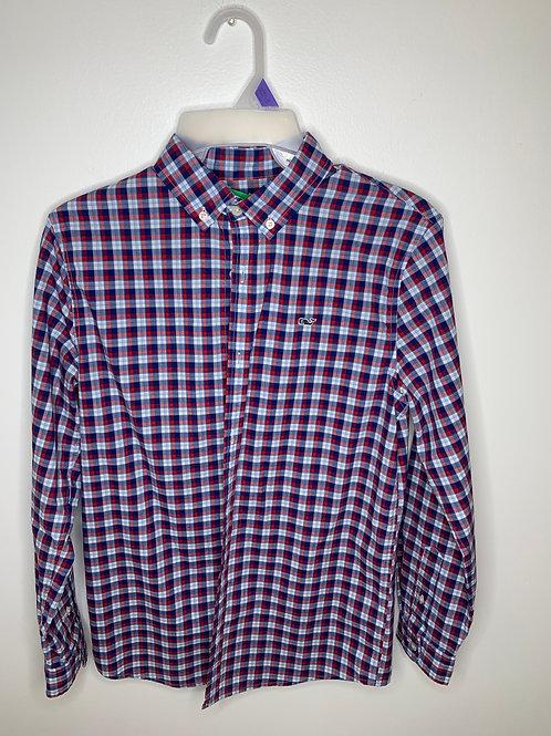 Vineyard Vines Plaid Dress Shirt Boys - Size XL