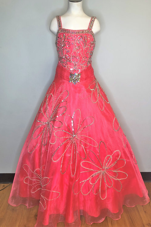 Pink and Floral - Size 8