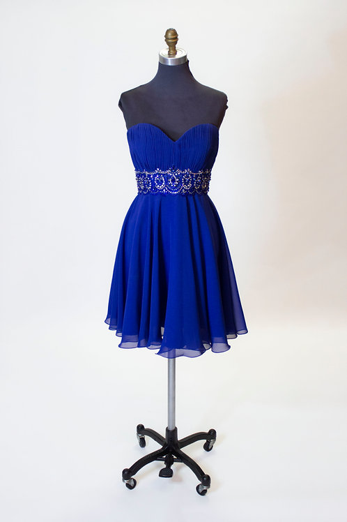 Royal Blue Chiffon - Size 10