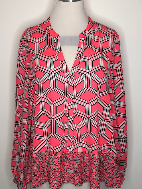Coral Abstract Top Large