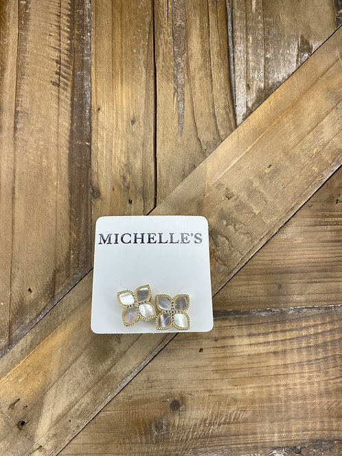 Silver & Gold Stud Earrings