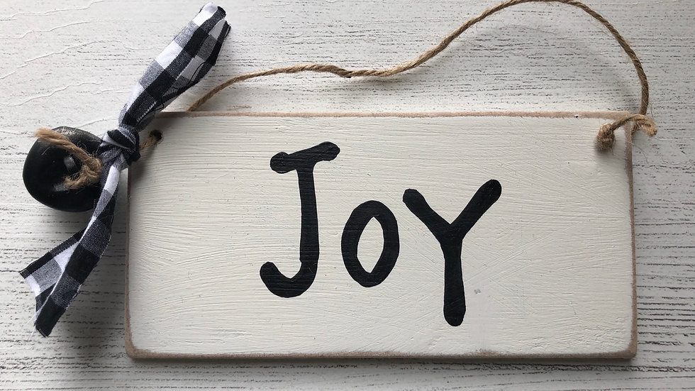 'Joy' Hand Painted Sign