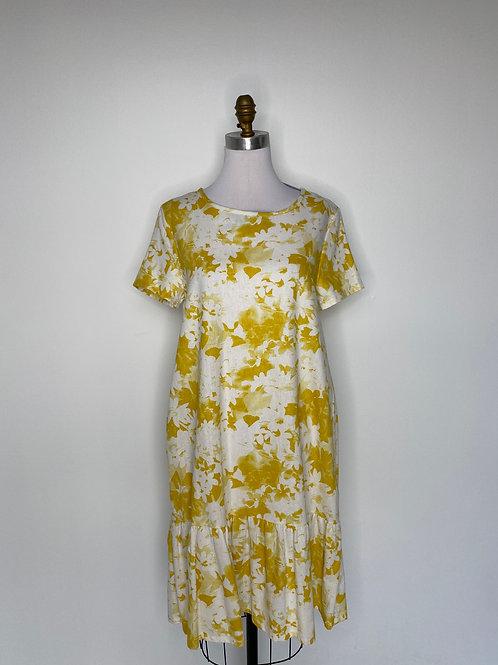 Yellow print dress Size Small