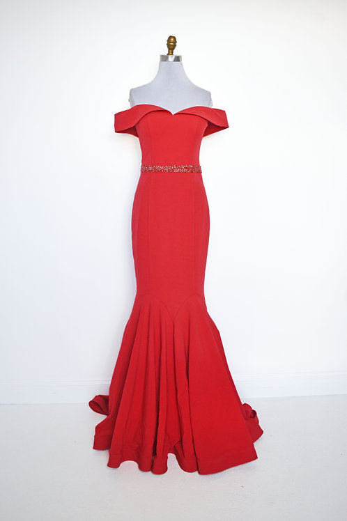 Fitted Red Off the Shoulder - Size 6