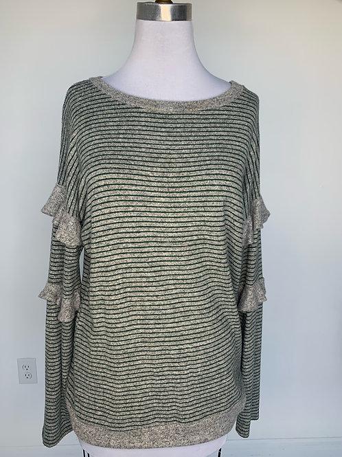 Grey Striped Top - Medium