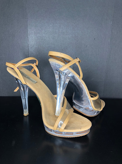 Nude and Clear Shoes - Size 8