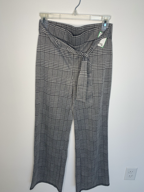 Belted Plaid Pants - Size 8