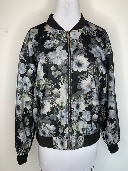 Black print jacket - Size Large