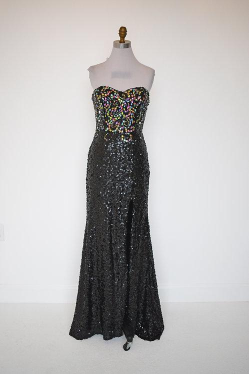 Long Black Sequins - Size 6