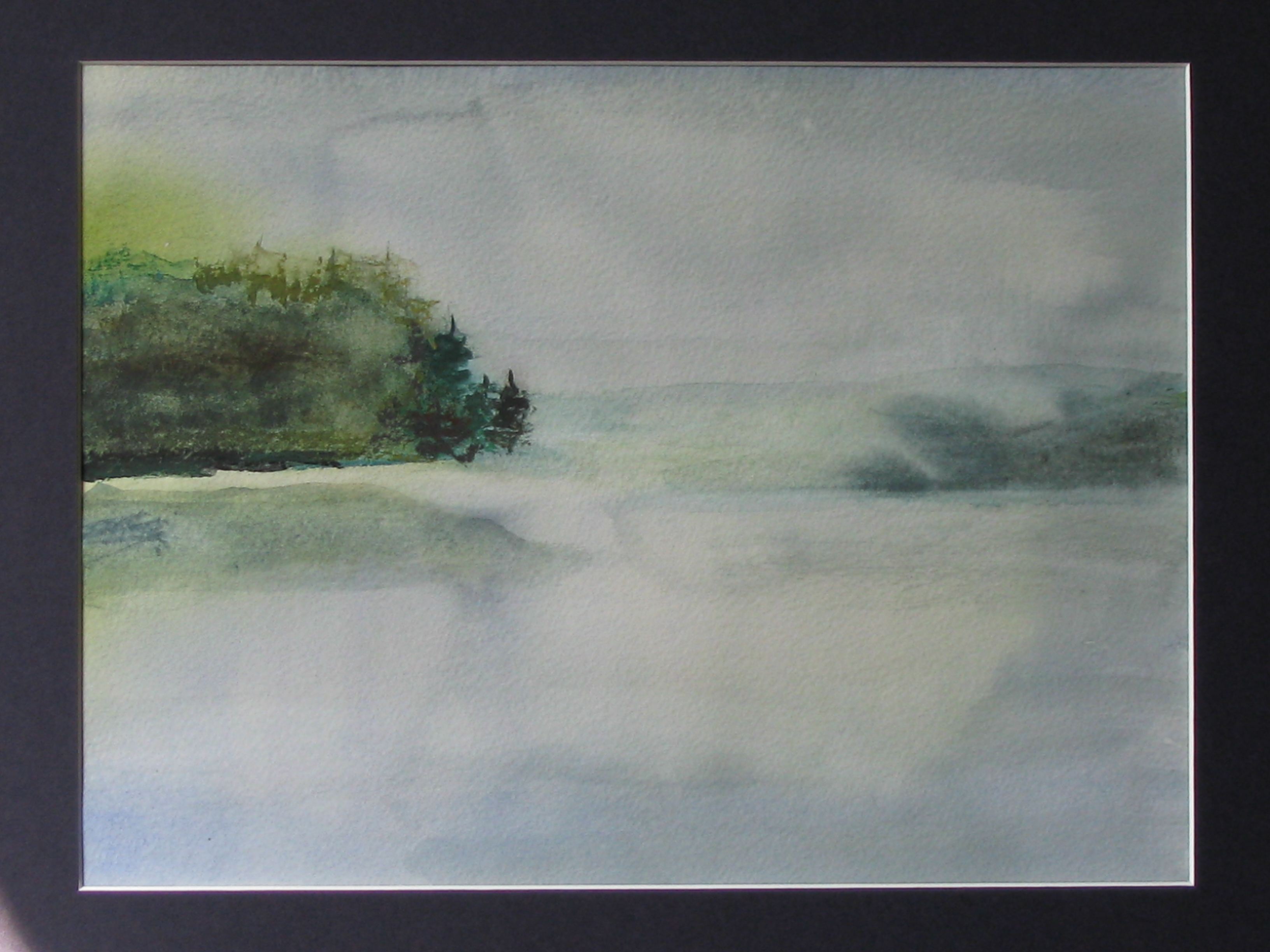 Morning Mist - Watercolor