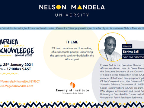 NEWS: Events on the SDGs and African knowledges