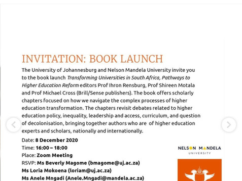 NEWS: Book launch today and Special Issue celebration soon