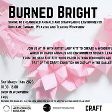 Burned Bright Craft Workshop, based at The Thought Foundation, March 2020