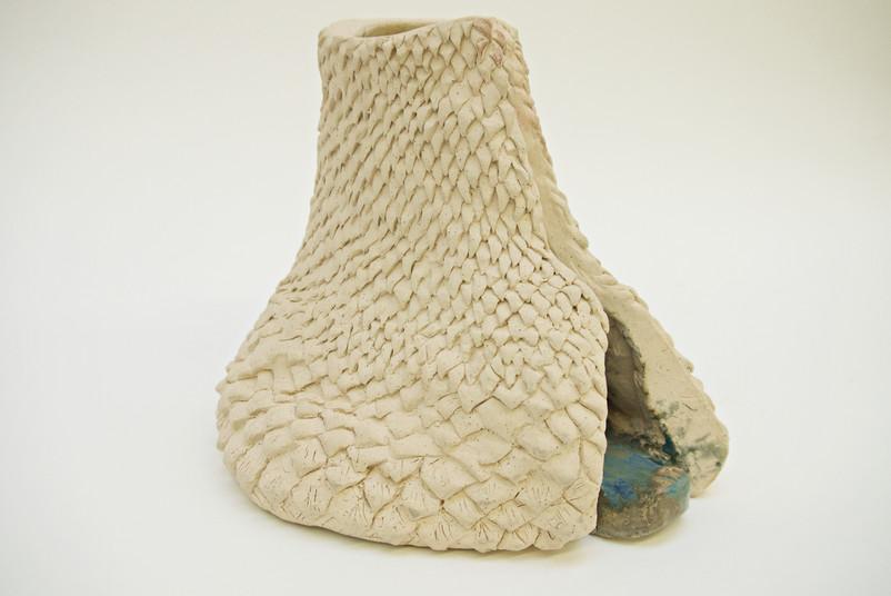 'Blue Tongue', Ceramic Sculpture 2019