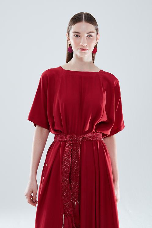 Giyi No.8 Back To Front Elbise Kırmızı