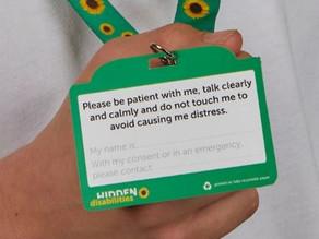 Hidden Hearing Disabilities Sunflower Lanyards