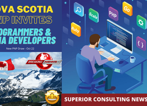 Nova Scotia New PNP Draw - 20 Oct - Invites Programmers & Media Developers