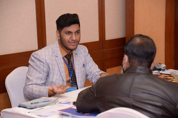 Mr. Abu Bakar Adil during a Counseling session in 45th Immigration Seminar in Karachi by Superior Consulting.