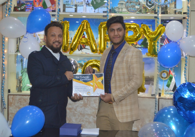 Being awared Star Performance certificate for the year 2020 by Superior Consulting CEO Mr. Adil Ismail