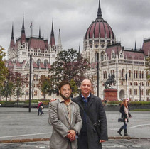 Mr. Adil Ismail in Hungary with our Associate Lawyer