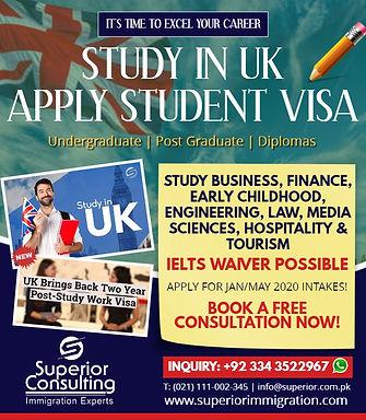 UK Study Visa expert in karachi superior