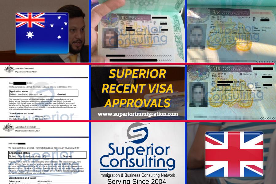 Recent Visa Approvals Superior Consultin