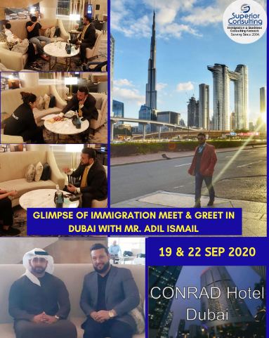 Immigration Meet & Greet in Dubai with Mr. Adil Ismail