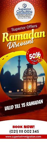 Copy of Ramadan restaurant Print banner