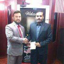Mr. Saif with Mr. Adil