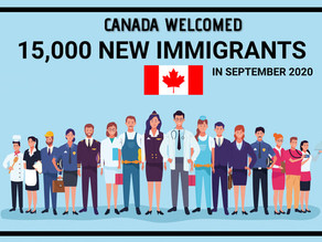Canada welcomed 15,000 new immigrants in September 2020 | REPORT