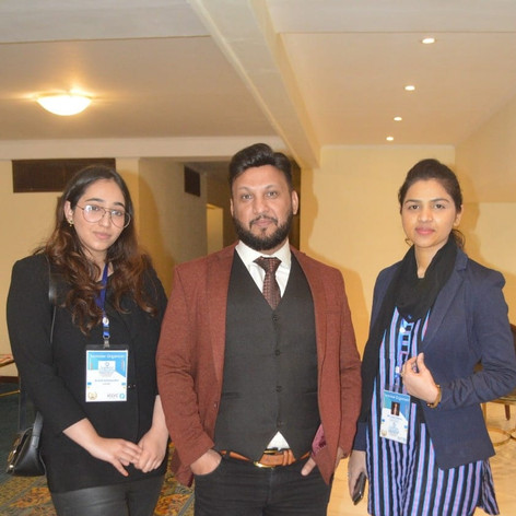 Mr. Adil Ismail with his assistants