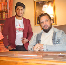 Mr. Ismail with Abu Bakar in Turkey