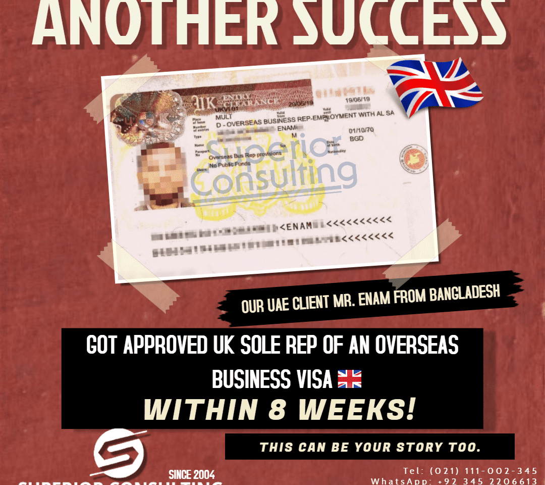 uk sole representative success story sup