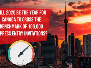 Will 2020 be the year for Canada to cross the benchmark of 100,000 Express Entry invitations?