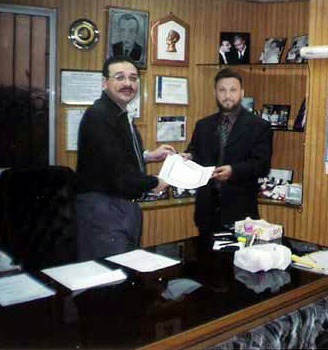 Honorable (late) Mr. Amin Dadabhoy (Ex Senator) receiving UK Immigration Approval