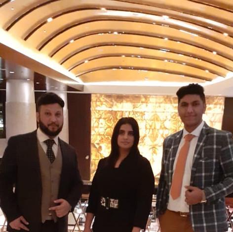 Mr. Adil Ismail & Team in Conrad Hotel Dubai for Immigration Seminar in January 2020