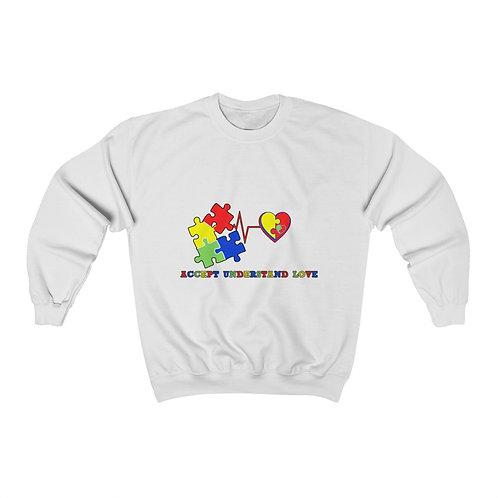 Love Accept Autism Awareness  Sweatshirt