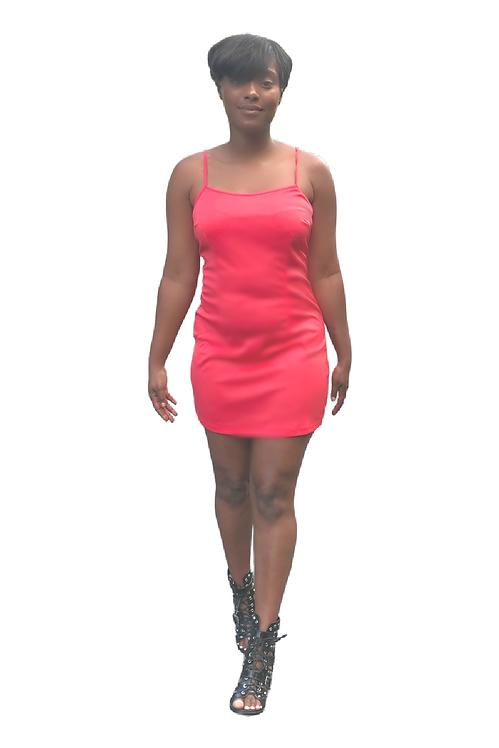 Georgia Peach Mini Slip Dress