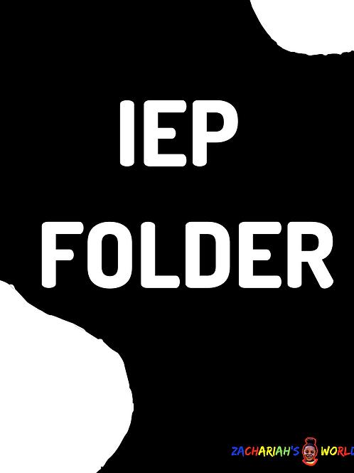 IEP FOLDER