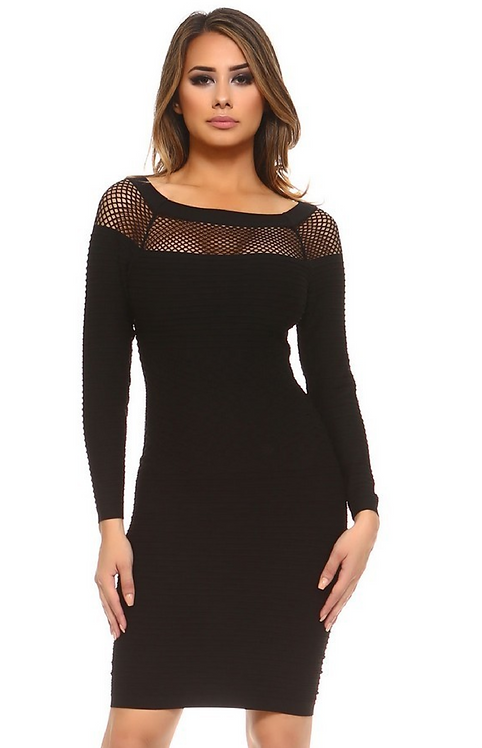 Girls' Night Out Bandage Bodycon Black Dress